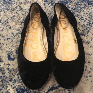 Sam Edelman Flats Size 10.5 Black Velvet Flats
